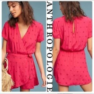 {XSP} Anthropologie Greenbrier Embroidered Romper